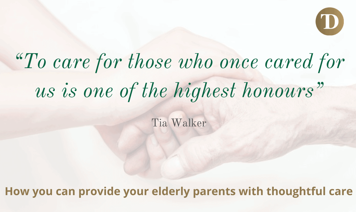 Caring for an ageing parent