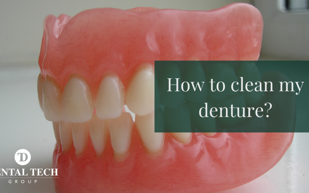 How to clean my dentures.